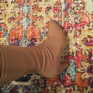 Nude sock boots